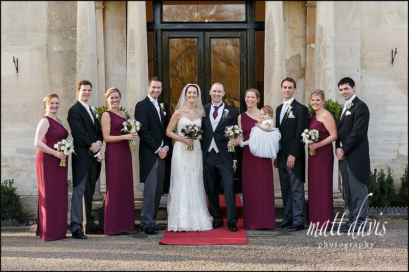 Group Wedding photos at Eastington Park, Gloucestershire