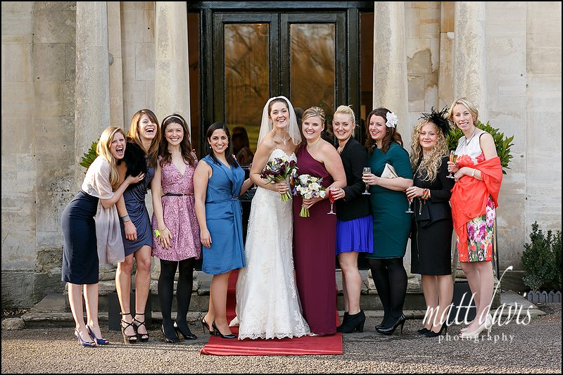 Eastington Park wedding photos of 'the girls' in a relaxed style