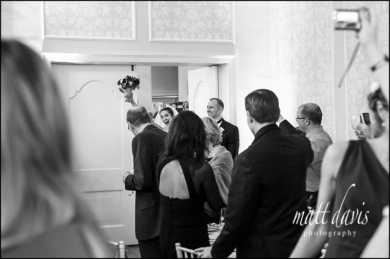 Black and white documentary wedding photography in Gloucestershire at Eastington Park