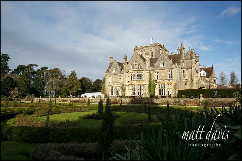 Tortworth Court is a good place to stay if you are having a Bridal preps prior to a winter wedding at Berkeley Castle