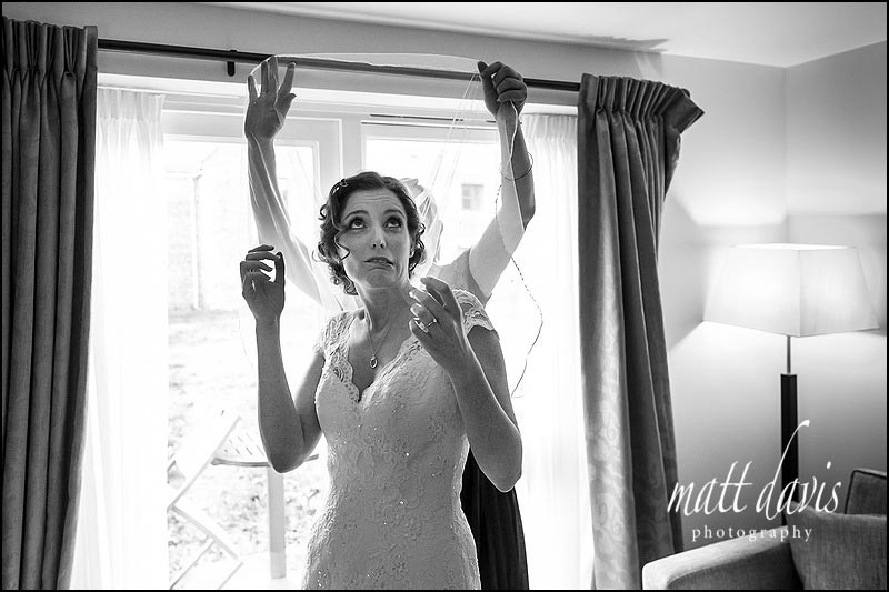 comical Black and white wedding photos by Matt Davis Photography based in Gloucestershire