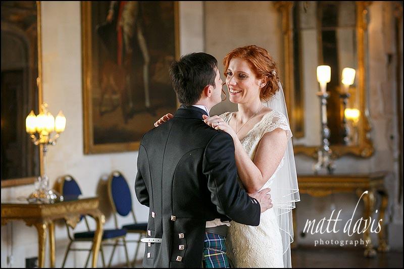 natural wedding couple photos at Berkeley Castle