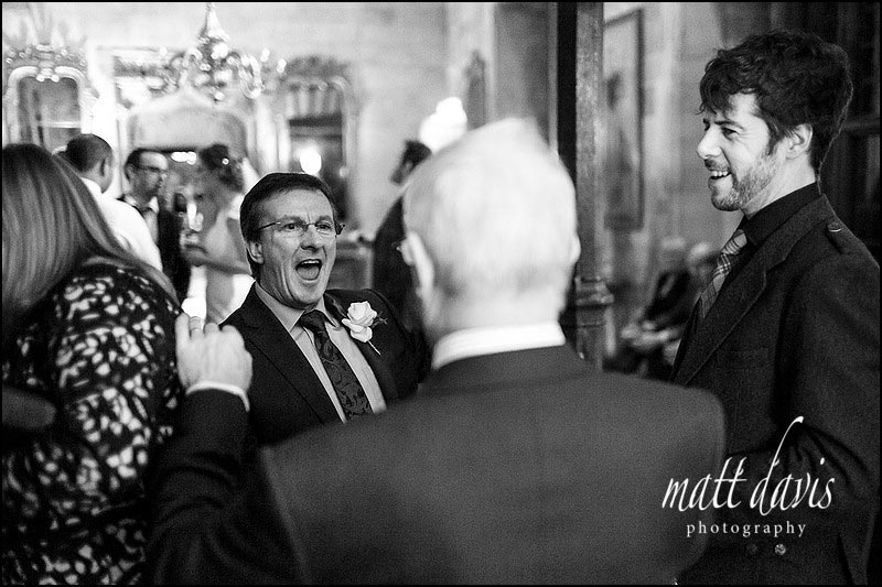 Black and white documentary wedding photography at Berkeley Castle by Matt Davis