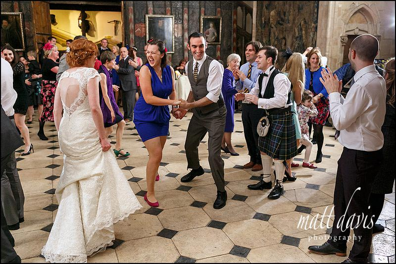 scottish ceilidh dancing at Berkeley Castle