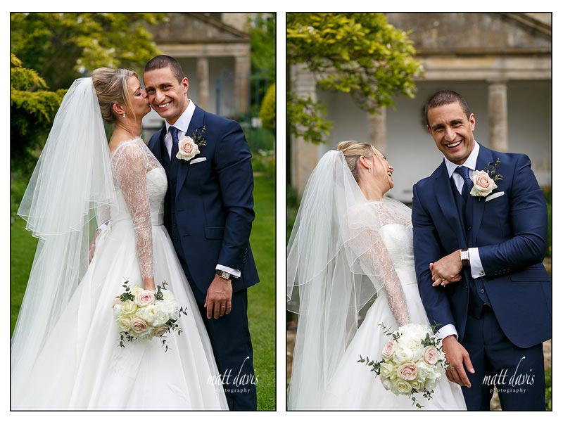 Relaxed couple portraits taken at Barnsley House by Matt Davis Photography