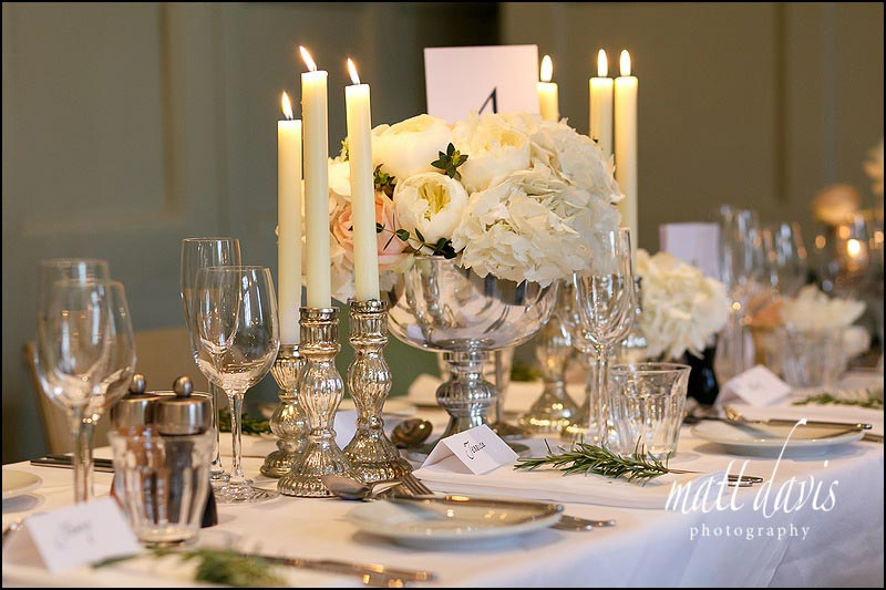 Table decorations at Barnsley House, Cirencester