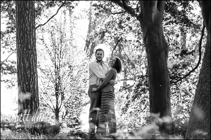 Black and white Engagement photography Cheltenham