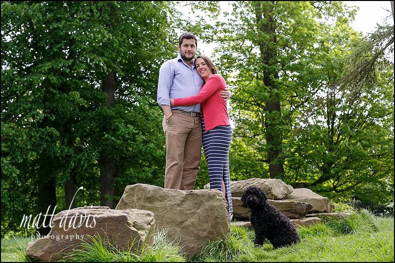 Engagement photos in Cheltenham with pets