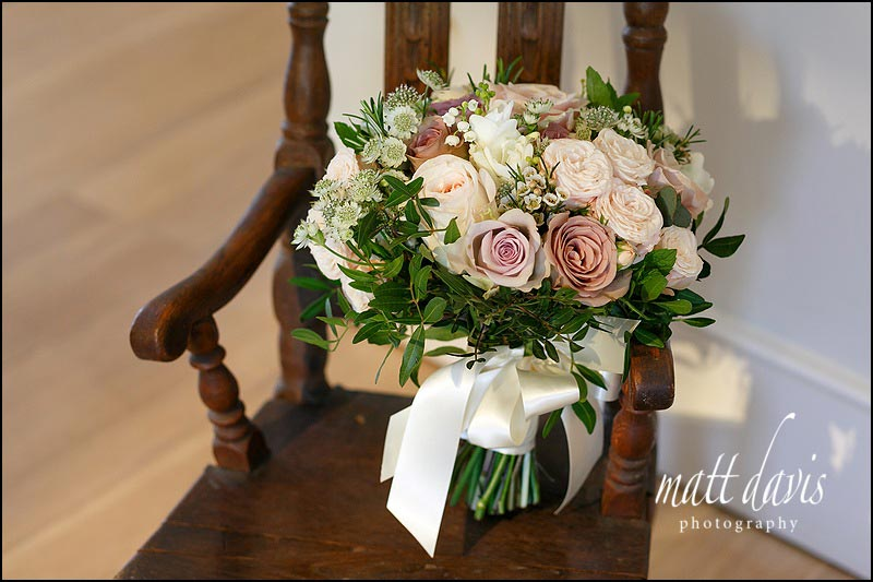 Country garden flowers wedding bouquet