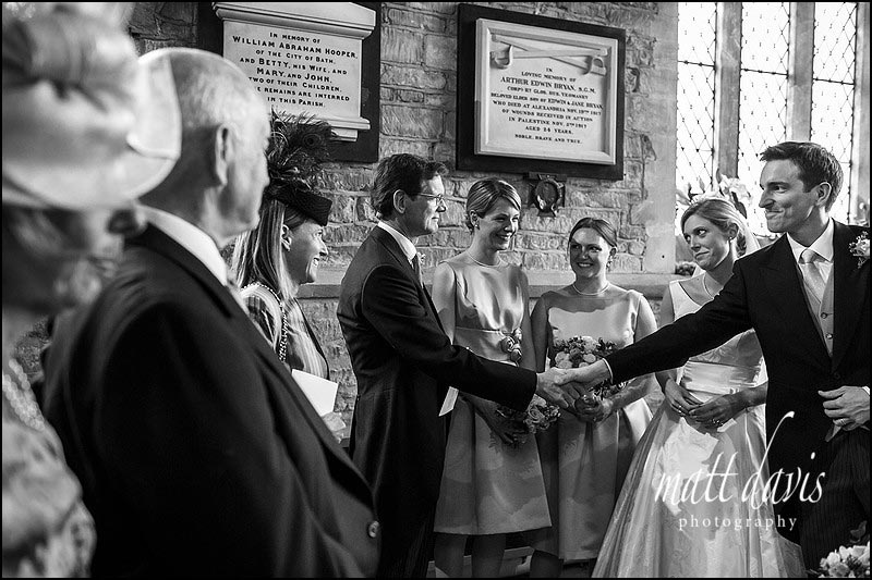 Black and white documentary wedding photos by Matt Davis Photography