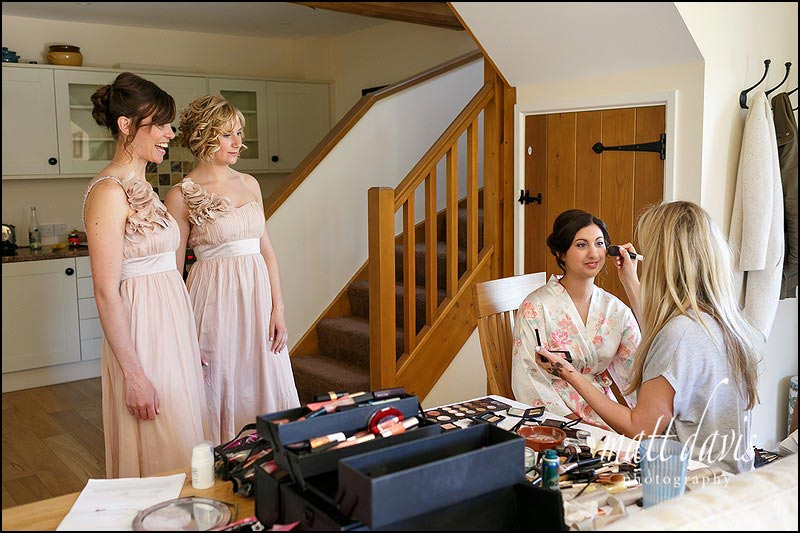 Emily Tarrant make-up artist creating beautiful wedding make up.