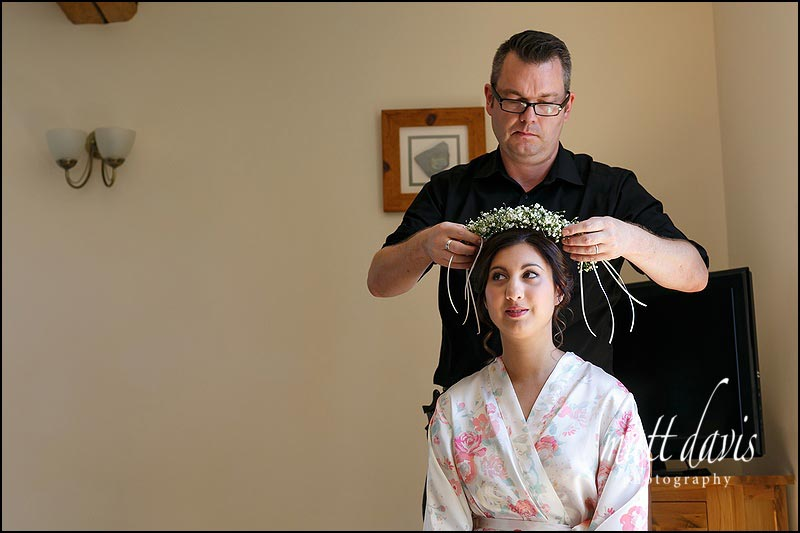 Chris Fordham styling wedding hair