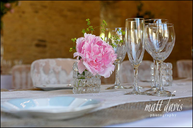Simple vintage wedding details at Kingscote Barn