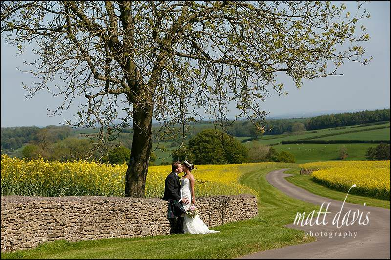 Elegant couple portraits taken at Kingscote Barn by Matt Davis Photography