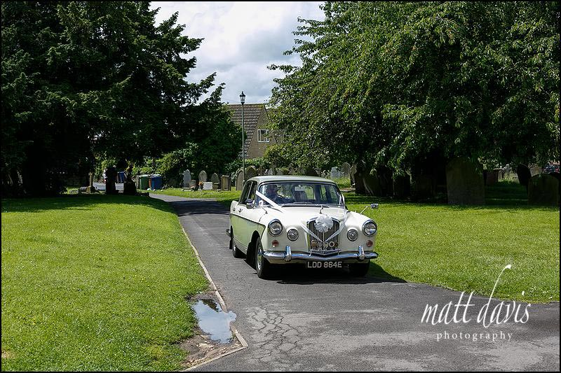 Vintage Wolseley wedding car