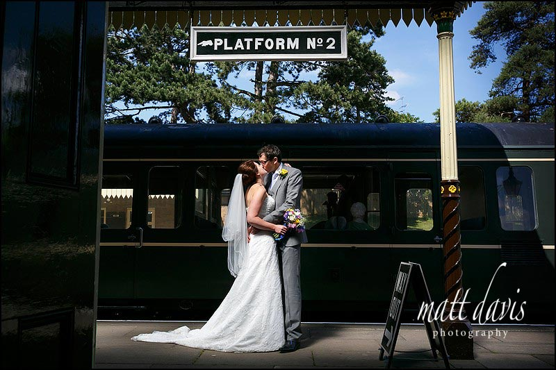 Wedding Photography Cheltenham taken at Winchcombe train station