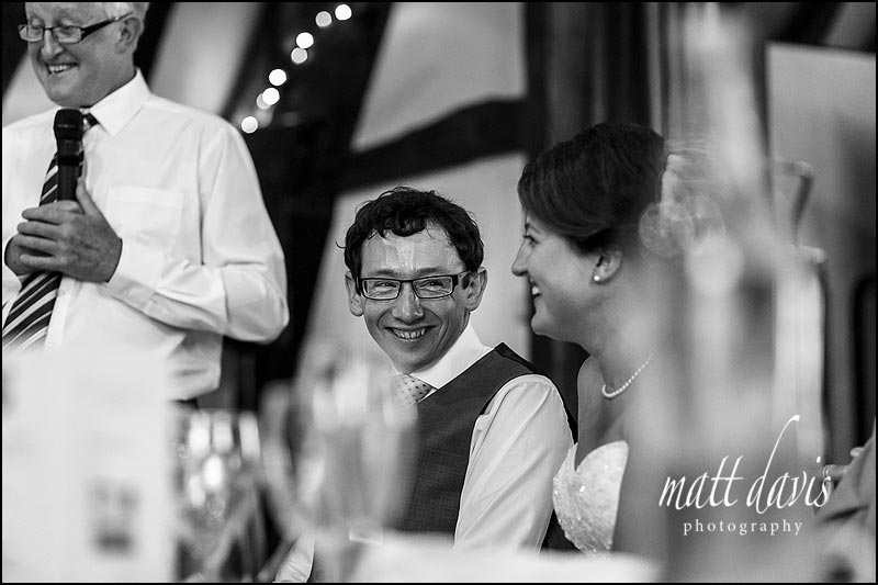 Wedding speeches at the Tithe Barn in Bishops Cleeve, Cheltenham
