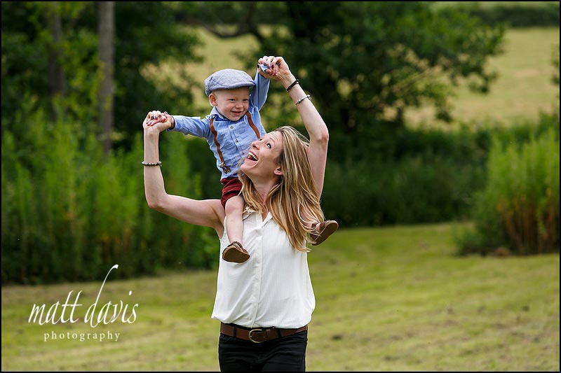Informal family portrait photography Gloucestershire