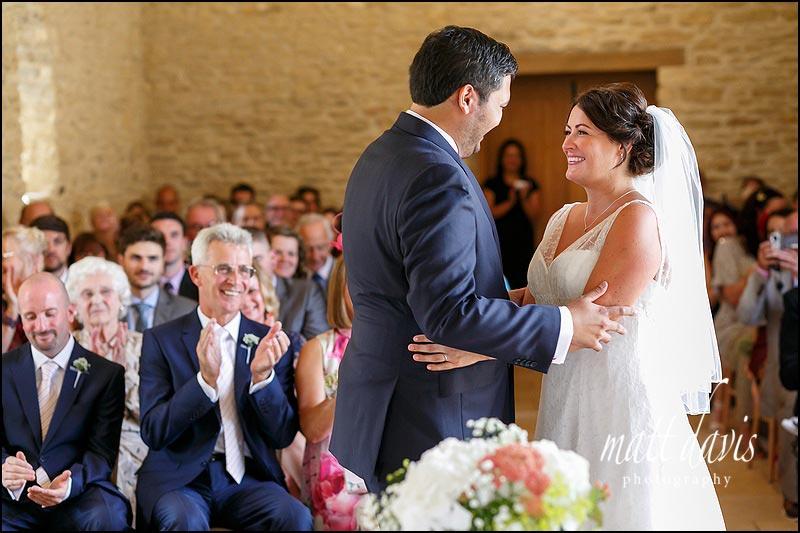 Civil ceremony at Kingscote Barn