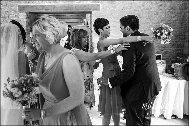 Documentary wedding photography at Kingscote Barn by Matt Davis