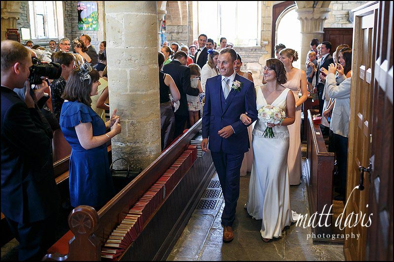 St Leonard's Church wedding in Bretforton near Chipping Campden
