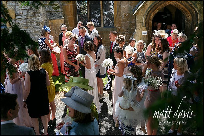 St Leonard's Church wedding in Bretforton