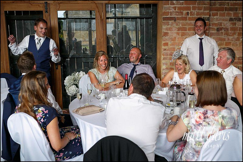 Wedding speeches at Mickelton Hills Farm