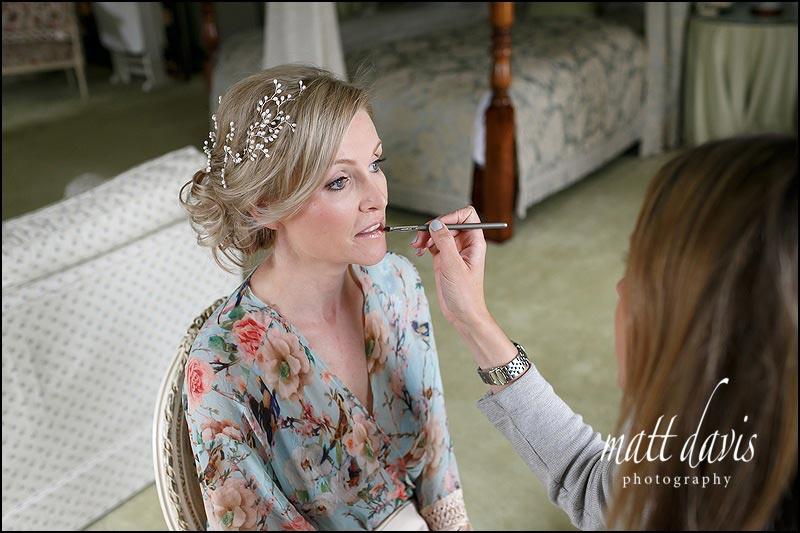 Make up artist Sophie Everett working at Birtsmorton Court
