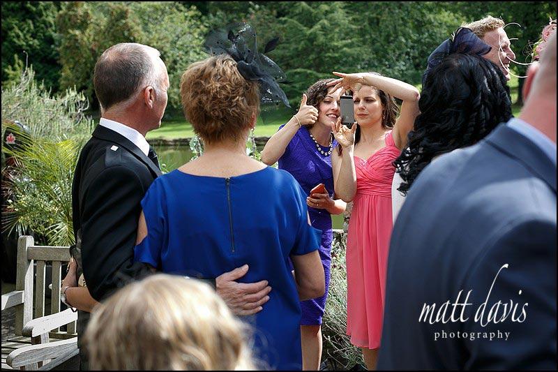 Wedding guests at Birtsmorton Court