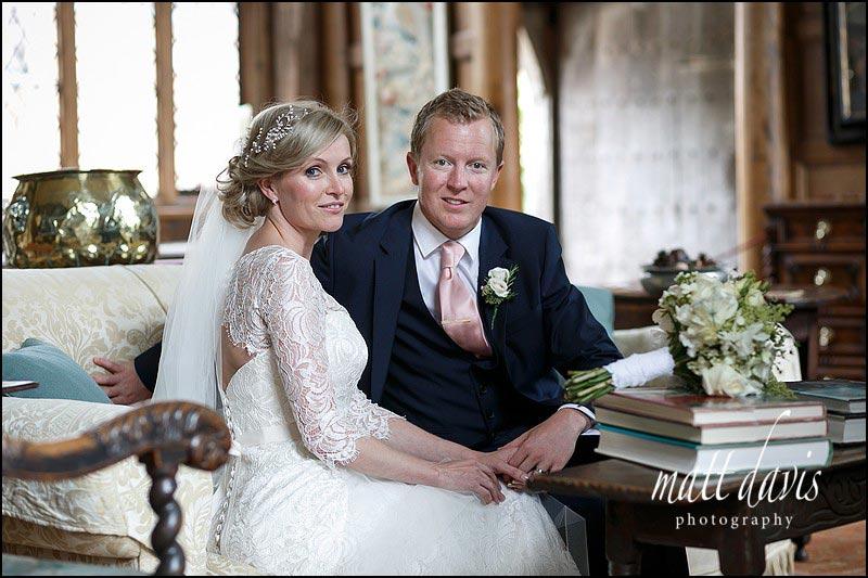 Indoor wedding photos at Birtsmorton Court taken by Matt Davis Photography