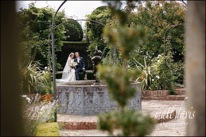 Birtsmorton Court wedding photos taken in the White Garden by Matt Davis Photography