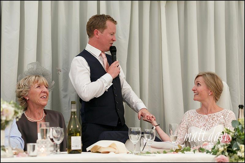 Wedding speeches at Birtsmorton Court
