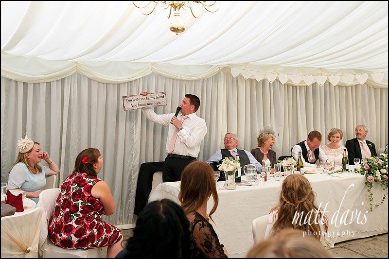 Best mans wedding speech at Birtsmorton Court