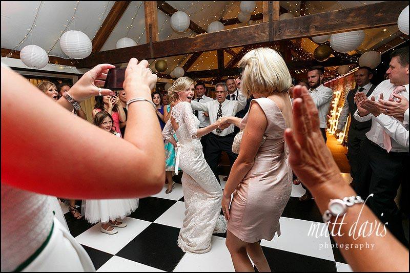 Bride on the dance floor at Birtsmorton Court