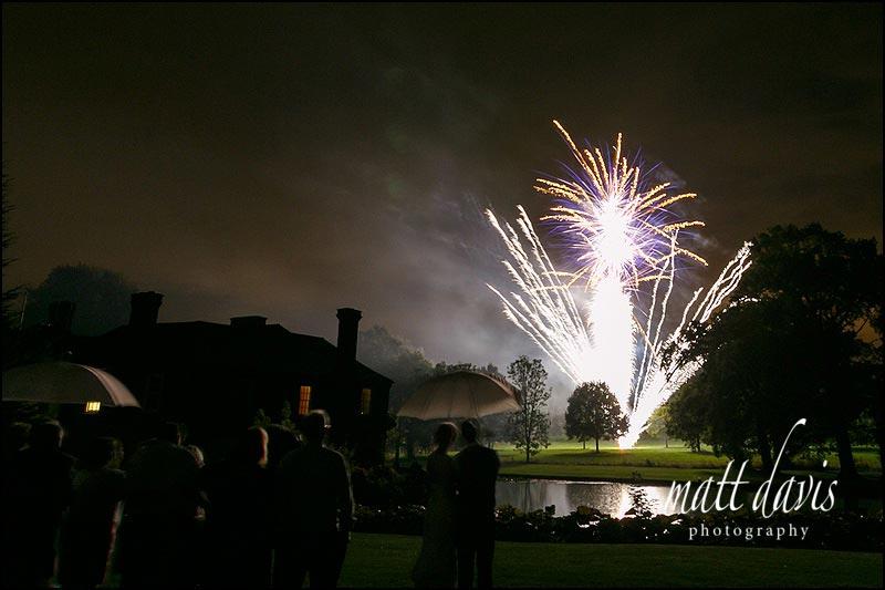 Birtsmorton Court wedding photos of fireworks