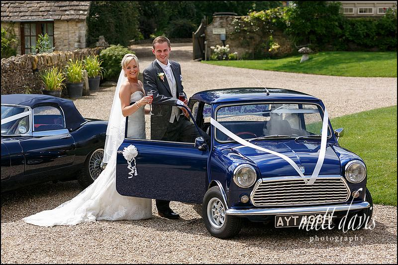 Mini cooper as wedding car