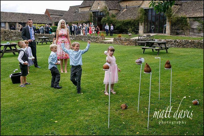 Coconut shy wedding games