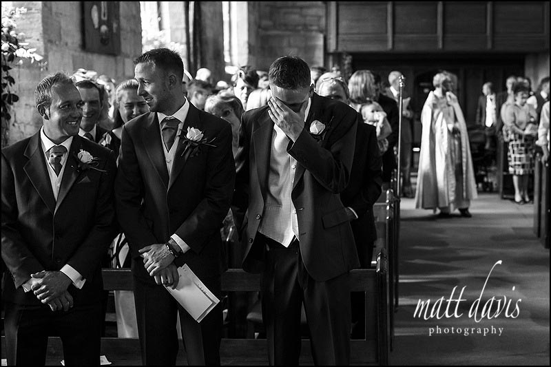 Documentary wedding photography at St Peter's church, Worcestershire
