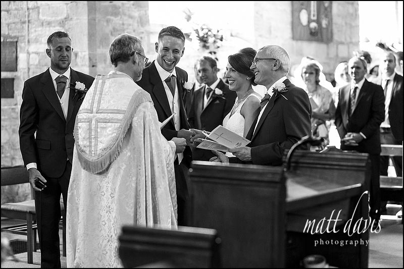 Documentary wedding photography at St Peter's church, Inkberrow, Worcestershire