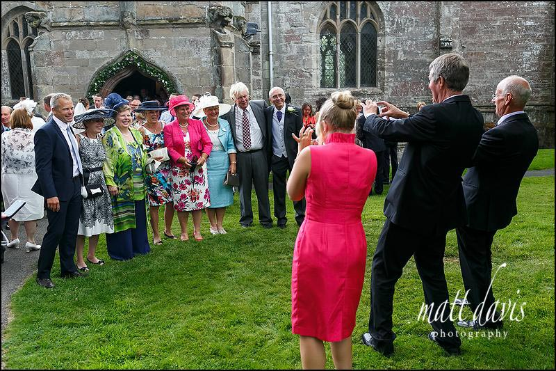 Wedding photography outside the church in Evesham