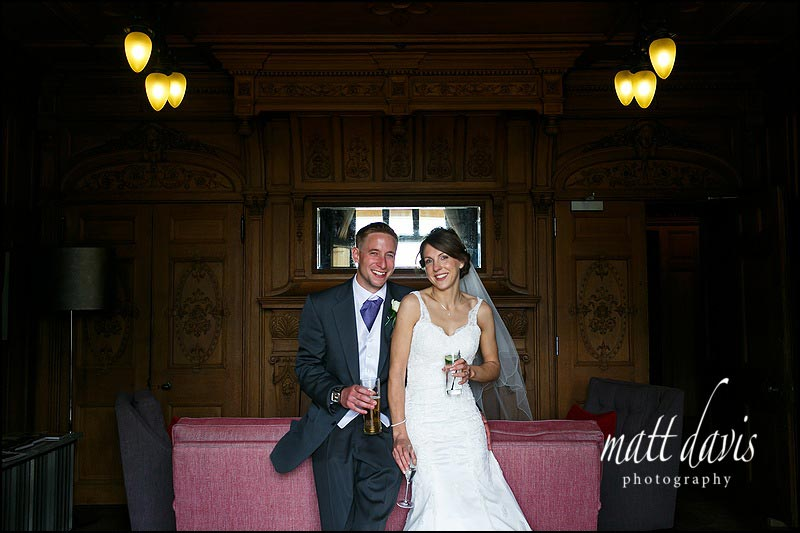 indoor wedding photos at The Wood Norton