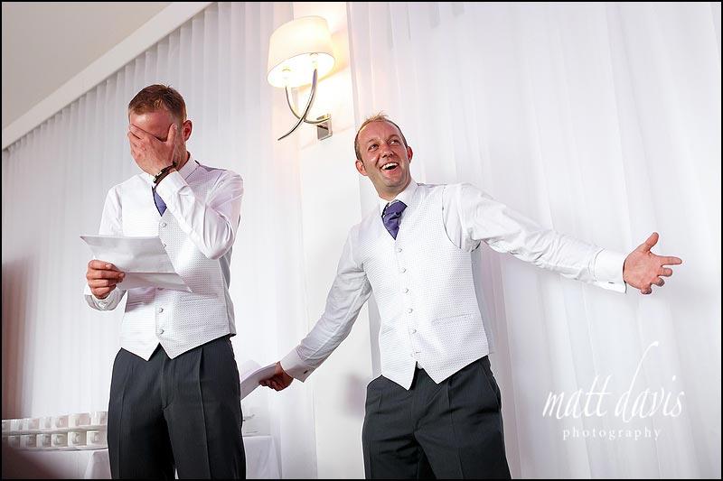 Wedding speech photos at The Wood Norton