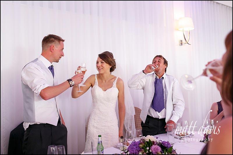 Speech wedding photos at The Wood Norton