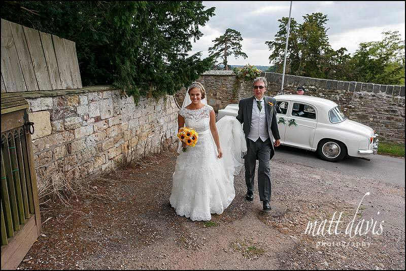 Autumn wedding at St Mary's church, Berkeley, Gloucestershire