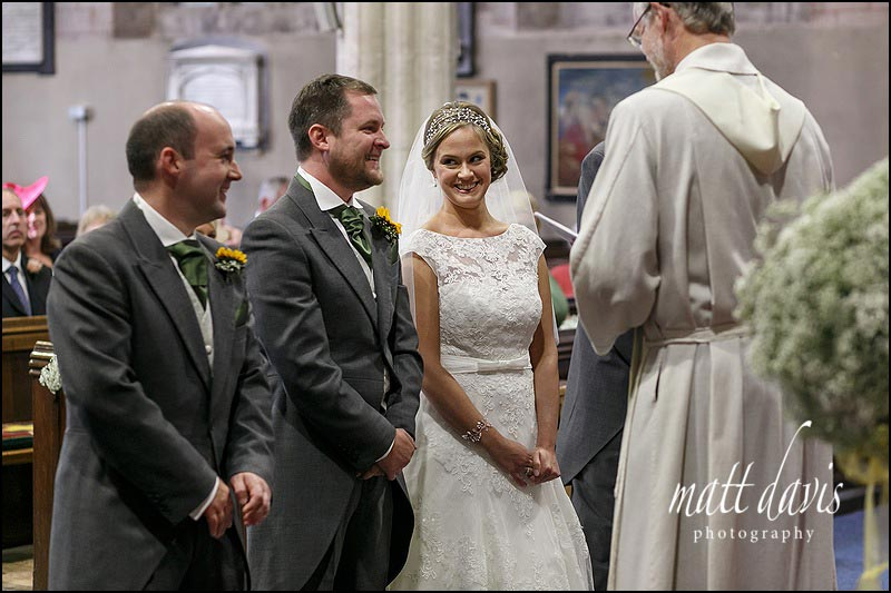 documentary wedding photography at St Mary's church, Berkeley, Gloucestershire