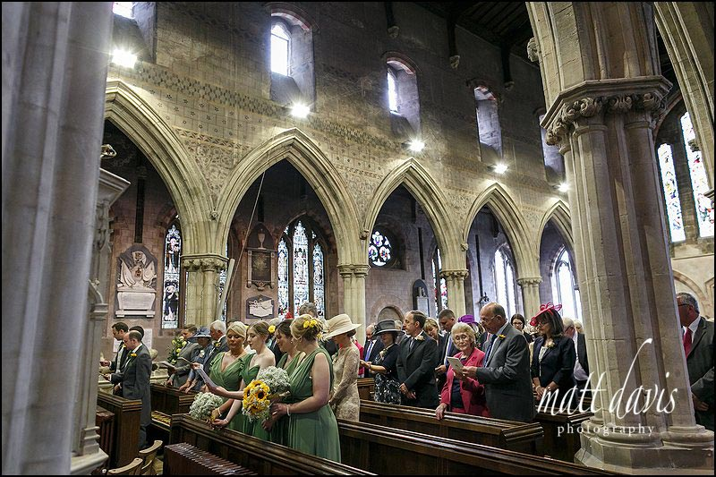 wedding photography at St Mary's church, Berkeley, Gloucestershire
