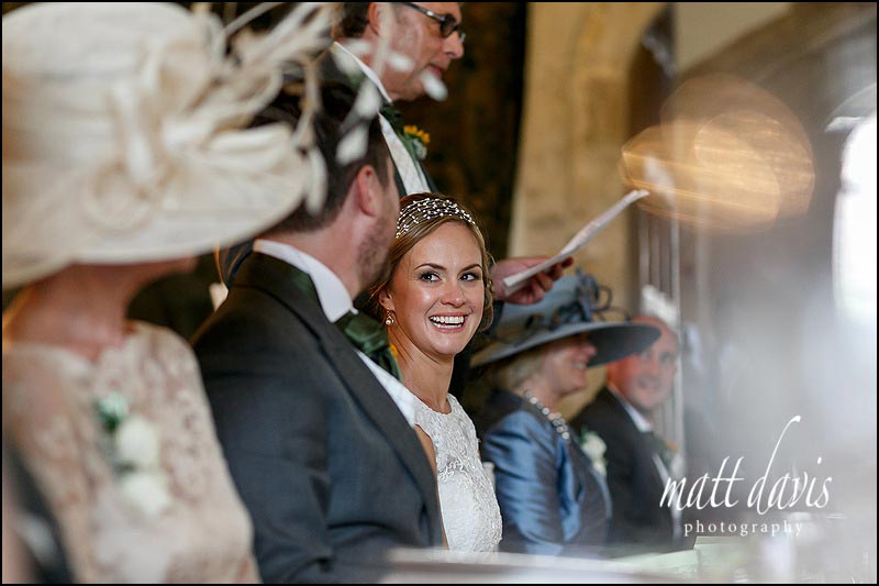 Wedding speeches at Berkeley castle