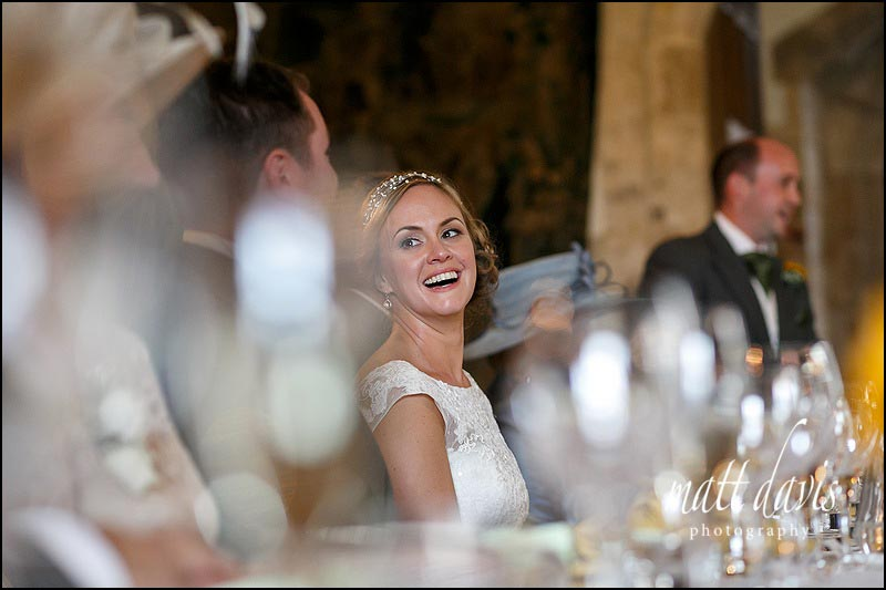 Speeches during an autumn wedding at Berkeley Castle