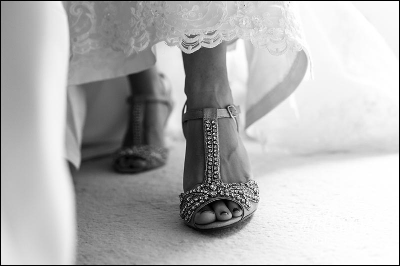 Stunning sparkly wedding shoes