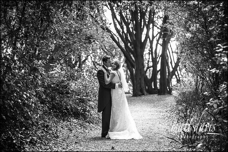 wedding photos near the beach at Highcliffe castle, Christchurch